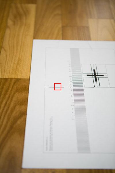 Проверка объектива на бэк-фокус - фокусировка по толстой линии - фокусировка по вертикальной линии