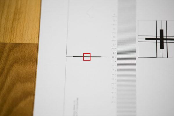 Проверка объектива на бэк-фокус - фокусировка по толстой линии - фокусировка по горизонтальной линии