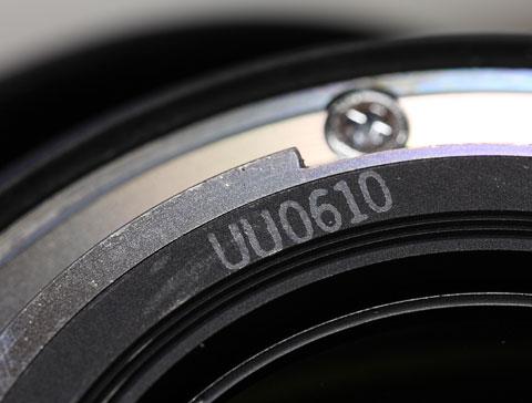 Номер - код даты изготовления объектива Canon