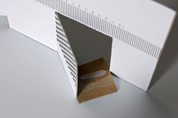 Шкала с мишенью для тестирования автофокуса
